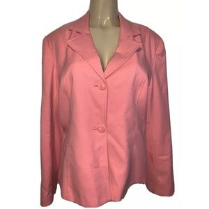Sag Harbor Coral Blazer Jacket Size Womens 16